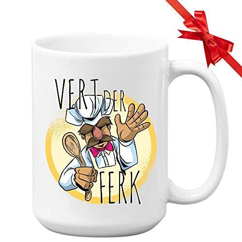 N\A Schwedische Chefkoch Kaffeetasse - Vert Der Ferk - Witzige einzigartige Neuheit Kreative Küche Koch Küche Küche Schürze Löffel Barbecue Köstliche Mahlzeiten Kulinarisch 11OZ