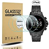 Suoman 4-Pack for Fossil Gen 5 Garrett Screen Protector, Tempered Glass Screen Protector for Fossil Gen 5 Garrett Smartwatch [2.5D 9H Hardness] [Anti-Scratch]
