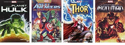 MARVEL Planet Hulk / Next avengers / Thor Tales of Asgard / L'invincibile Iron Man (4 DVD) Ediz. Italiana