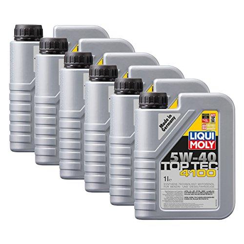 6x LIQUI MOLY 3700 Top Tec 4100 5W-40 Motoröl