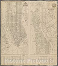 Historic 1920 Map - Hagstrom's Map of lower New York City, House Number and Subway Guide.of New York City and State - Manhattan - Vintage Wall Art - 36in x 44in