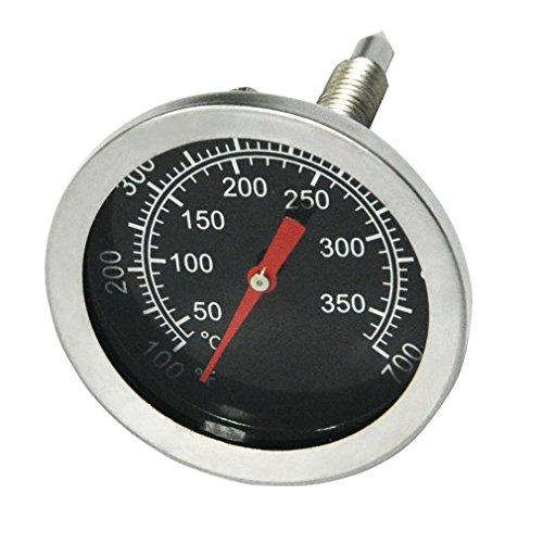 Onlyfire Edelstahl Grillthermometer bis 350°C/700°F, Thermometer für alle Holzkohlegrill, Grills, Ofen, Smoker, Räucherofen und Grillwagen, analog, Grillzubehör (Anzeige: Celsius und Fahrenheit)