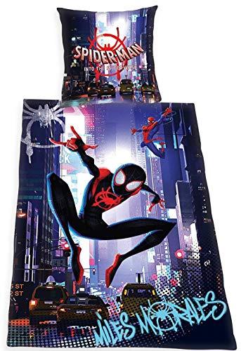 Spider-Man Bettwäsche 135x200 cm Spiderman into The Verse Renforce Baumwolle Wende