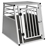 EUGAD Hundebox Autobox Hundetransportbox Transportbox Alubox Reisebox Aluminium L 75 x B 55 x H 66 cm 0060HT