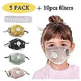 Bandanas de algodón con válvula de respiración con filtro de carbón activado reemplazable filtros de...