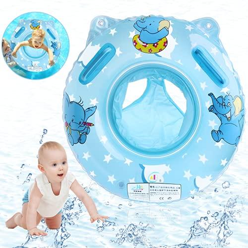O-Kinee Anillo de Natación Asiento, Flotador Bebe, Anillo de Natación para Bebé, Swim Safe Inflable Piscinas Playa Juguetes de Natación Fiesta Regalo para 6-36 Meses (Azul)