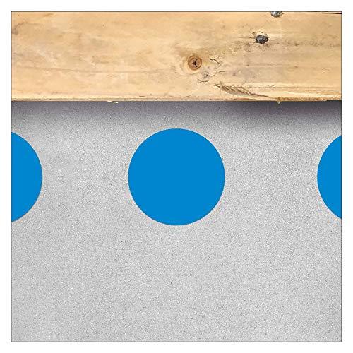 Autoadhesivo para marcar el suelo, círculo redondo, adhesivo, punto adhesivo, Ø 60 mm/Blau, azul, 1
