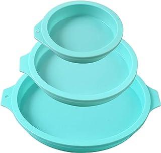 Newk Moule à gâteau rond en silicone, 3 paquets de disque en silicone comme moule pour gâteau, sous-verres en résine, savo...