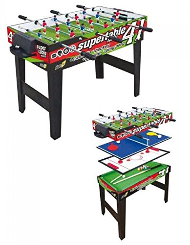 Multifunktionstisch Sport One Mini Supertable - 4 Spiele in 1