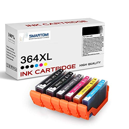 SMARTOMI 364 364 XL compatibles con HP 364XL Cartucho de Tinta, para HP Photosmart B8550 C5324 C5370 C5373 C5380 C5383 C5388 C5390 C5393 C6324 C6380 D5460 D5463 D7560(6 Cartuchos)