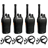 Retevis RT46 Walkie Talkies for Adult,Rechargeable Two Way Radio with Earpiece, Emergency Flashlight...