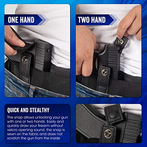 4. AIKATE - Belly Band Holster for Concealed Carry, IWB Gun Holster for Men and Women