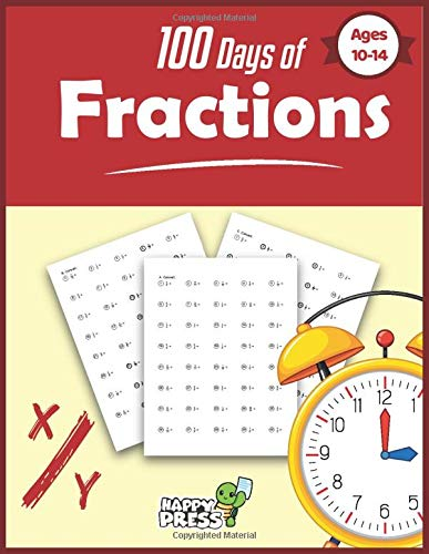 Fractions: Happy Turtle Press - 100 Days of Decimals, Percents & Fractions: Advanced Practice Problems - Converting Numbers - Adding, Subtracting, ... Fractions - Math Drills (100 Days Of Math)