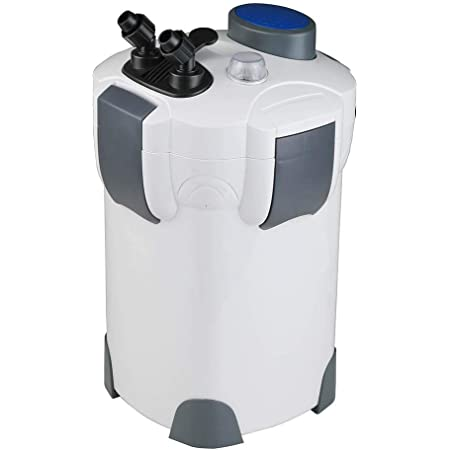 Polar Aurora Free Media 265GPH / 370GPH / 525GPH External Aquarium Filter with Builtin Pump Kit Canister
