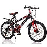 FUFU Bicicletas de los niños de 20 Pulgadas de Velocidad Variable Bicicleta de montaña es Ligero y Prueba de Golpes Adecuado for niños de 9-14 (Color : B)