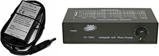 Technolink TC-750LC Audiophile RIAA Phono Preamp with Output Level Control, 85dB S/N; Black or Silver, Your Choice (Black w/USB)
