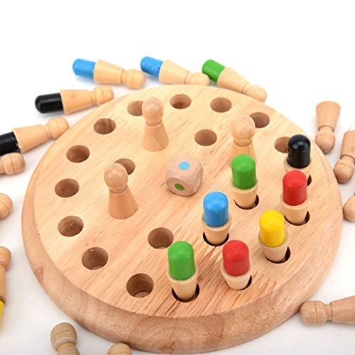 Amazing Deal Yiiciovy Children Wooden Memory Matchstick Chess Game Block Board Educational Intellige...