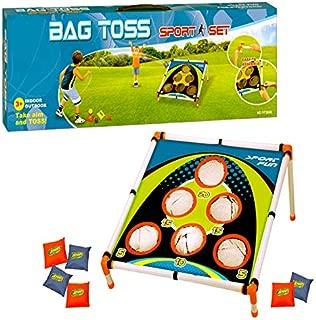 Adorox Bean Bag Toss Game Set Sporty Bean Bag Corn Hole Outdoor Indoor Game Set