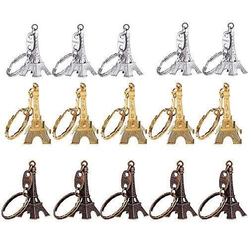 Mydio Eiffeltoren sleutelhanger, 15 stuks, Frans Souvenir, Parijs