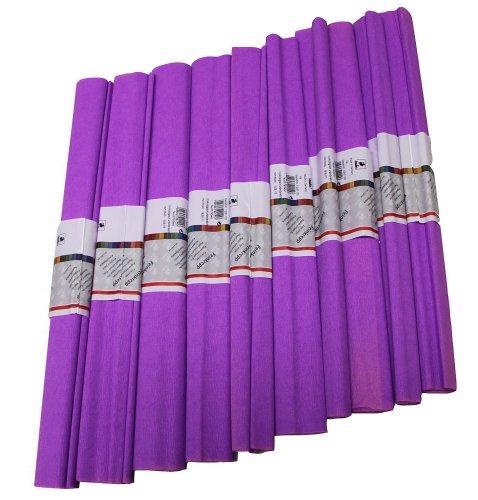 Staufen 617145 - Krepppapier 10 Rollen 50 x 250 cm lila