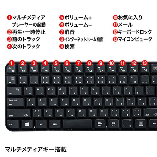 サンワサプライ『マウス付きワイヤレスキーボード(SKB-WL25SET)』