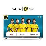 CHiQ Television U58G7N UHD 4K Smart TV, 58 Pouces(146cm), HDR 10/hlg,Wif i,Bluetooth, Youtube, Netflix 5,1, Prime Vidéo,HDMI,USB