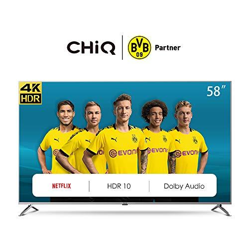 CHiQ U58G7N Smart TV 147 cm (58 Zoll), LED, UHD, 4K, HDR10, Wif i, Video,Netflix, YouTube 58 pouces UHD Amazon Prime Netflix Schwarz