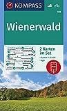 Carta escursionistica n. 208. Wienerwald 1:25.000 (set di 2 carte): 2 Wanderkarten 1:25 000 im Set inklusive Karte zur offline Verwendung in der KOMPASS-App. Fahrradfahren