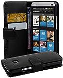 Cadorabo Coque pour HTC One M7 (1. Gen.) Noir DE Jais Housse de Protection Etui...
