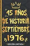 45 Años De Historia Septiembre 1976 Edición Limitada: 45 años Regalo Cumpleaños perfecto para las mujeres, los hombres, la esposa, novia, mujer, La ... en septiembre | Cuaderno de Notas, Diario.