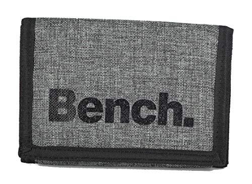 Klettbörse Bench Geldbörse, Geldbeutel, Portemonnaie, Münzbörse Wallet (M2 Grau)