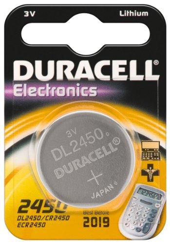 10er Set Duracell Batterie Elektronik 2450 Lithiumknopfzelle (CR2450) 3,0V 1St