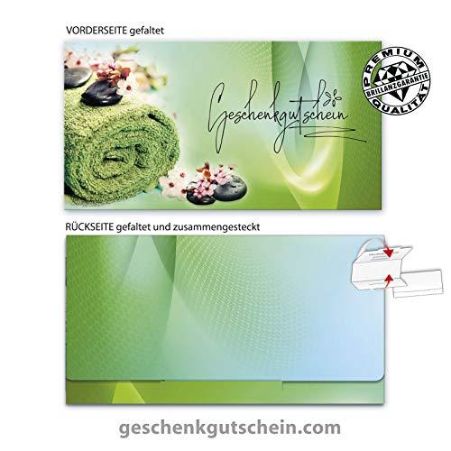 10 Stk. Geschenkgutscheine für Kosmetik, Wellness, Massage, Spa MA260 pos-hauer