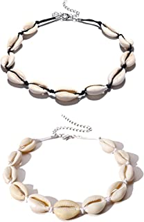 Gargantilla de concha natural para mujer, estilo bohemio, collar ajustable hecho a mano Hawaii para niña y mujer