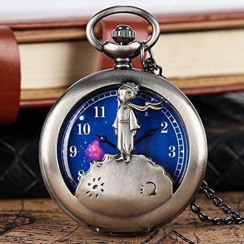 Reloj Bolsillo Vintage Reloj para Hombres Reloj Bolsillo Plata mecánico automático Moda Auto Wind Stripe Mujeres Hombres Reloj enfermería Fob Reloj Escudo Colgante