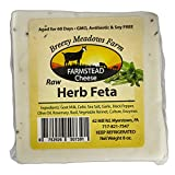 RAW HERB FETA from BREEZY MEADOWS FARM (GOAT MILK ONLY) 8 OZ