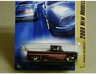 Hot Wheels 2008 New Models Burgundy Custom '62 Chevy w/ Gold Surfboard and Gold OH5SPs (13 of 40) #13/196