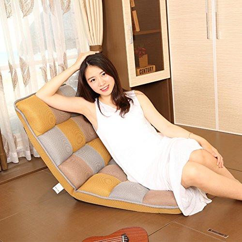 ZHANGRONG- Chambre confortable paresseuse de dossier d'ordinateur confortable de sofa paresseux -Tabouret de canapé (Couleur : Le jaune)