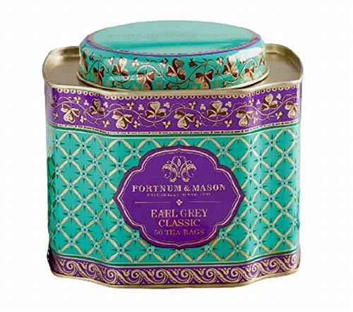 フォートナム&メイソン アールグレイクラシック 50ティーバッグ 装飾缶(並行輸入品)