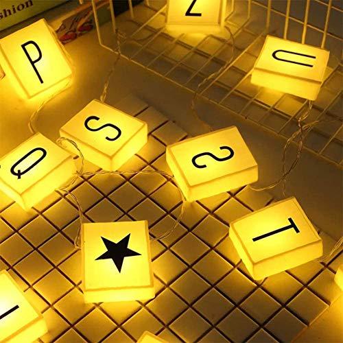 Creation Core 20 LED-Lichterkette mit 60 Buchstaben, Zahlen und Symbolen, freie Kombination, DIY-Buchstaben-Banner für Heimdekoration, Fotoshootings, Geburtstagsparty, Warmweiß