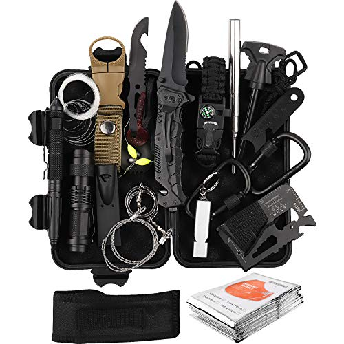 Survival Kits 25 in 1, RegeMoudal Emergency Survival Gear and Equipment, Cool Gadget for Birthday...