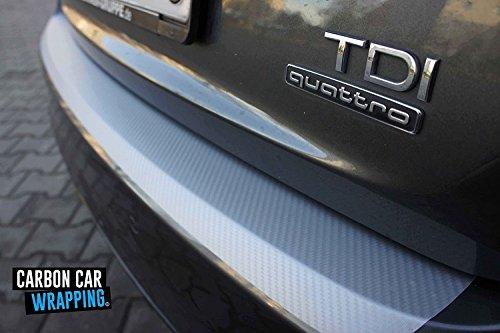 Preisvergleich Produktbild T5 Ladekantenschutz Lackschutzfolie mit Profi-Rakel in 3D Carbon Silber
