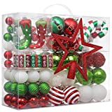Valery Madelyn 100ct Delightful Christmas Ball Ornaments, Shatterproof Xmas Balls for Christmas Tree Decoration, Themed with Tree Skirt (Not Included)