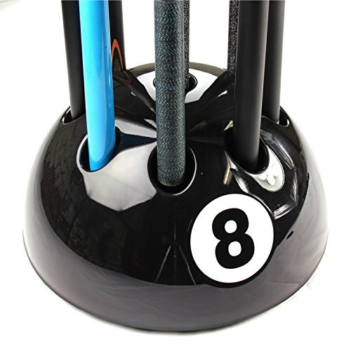 Original Giant BLACK 8 Ball Cue Stand & Rack - Holds Up To 9 Cues by Funky Chalk