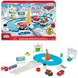Cars Calendario de adviento de Navidad con coches de juguete y accesorios (Mattel GXT25)