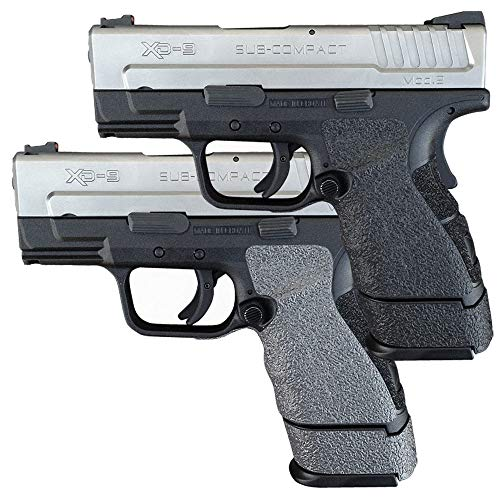 Galloway Precision Tractiongrips Grip Overlay in Black for Springfield Armory XD Mod.2 Sub-Compact 9 and 40 Pistols