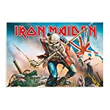 LPGI Iron Maiden Trooper - Póster de tela grande para pared, decoración de pared, para sala de estar, dormitorio, decoración, 30 x 45 cm