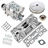 NEW HOLLEY STREET DEMON CARBURETOR & WEIAND STREET WARRIOR INTAKE MANIFOLD COMBO,750 CFM,4 BBL,GASOLINE,VACUUM SECONDARIES,ELECTRIC CHOKE,COMPATIBLE WITH SMALL BLOCK CHEVY VORTEC
