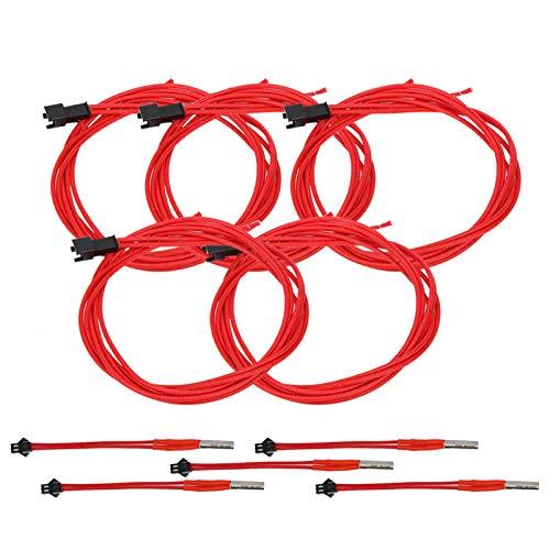 3D Printer Accessories 3D Printer Heating Rod Rapid Heating 24V Cartridge 3D Printer Heating Tube Segmented Heating Rod for Creality C R‑10S Pro 3D Printer(24V,40W)