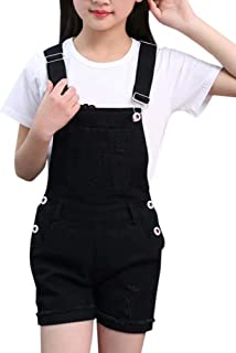 Girl's Cotton Overall Short